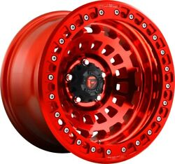 4 - Fuel D100 Zephyr Bl Candy Red Wheels Rims 17x9 -15mm 6x5.5 Tacoma 4runner