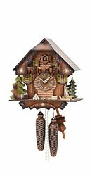 German Cuckoo Clock 8-day-movement Chalet-style 13 Inch - Authentic Black For...