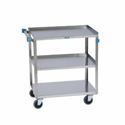 Lakeside 422 Manufacturing Utility Cart, Stainless Steel, 3 Shelves, 500 Lb. ...