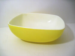 Vtg Pyrex Yellow Square Serving Party Snack Bowl 525b 2.5 Qt Oven Hot Chip Dip