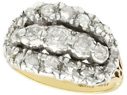 1.72 Ct Diamond And 18carat Yellow Gold Silver Set Dress Ring - Early Victorian