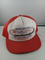 Vintage Us Plant Foods Agriculture Wisconsin Snapback Trucker Style Hat Cap T