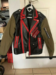 Dsquared Menand039s Leather Bike Jacket