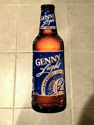 Genesee Brewing Co. Rochester New York Ny Genny Light Beer Bottle Metal Tin Sign