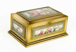 Antique French Ormolu And Sevres Porcelain Jewellery Casket C1880 19th C