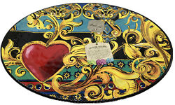 Baci Milano Melamine Seaside Escape 20andrdquox14andrdquo Oval Serving Tray Made In Italy New