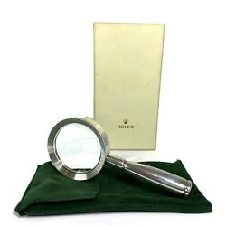 Rolex Hallmark Solid Sterling Silver .925 Vintage Rare Magnifying Glass 76 Pd