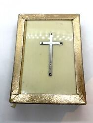 Vintage Book Of Common Prayer Celluloid Cover Hallmarked Sterling Silver Cross