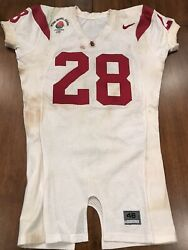 Will Poole Game Used Usc Trojans Jersey Game Worn Jersey Rose Bowl