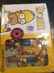 The Simpsons Movie Dvd Widescreen Exclusive Family Figurines New Crushed Box