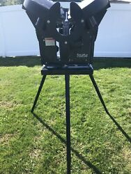 Triple Play Baseball Pitching Machine With Battery Charge