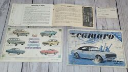 1967 Camaro Owners Manual- Protect-o-plate- Acc.-chevelle,chevy2,corvair,corv-h1