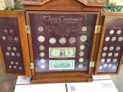 Three Centuries Us Coin Type Set. Vintage Coin Set. Extensive Coins On Display.