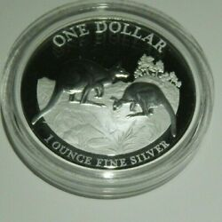 1oz Silver Proof Coin, 2014 Kangaroo Series Coin, Explorers' First Sightings Box