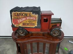 Vintage Truck Wood Toy Advertisement Biscuit Steel And Wooden Toy Big Truck Lot