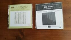 Stampin Up Pinewood Planks And Corrugated Embossing Folders Both New/unused