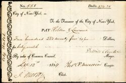 Dewitt Clinton - Manuscript Document Signed 09/12/1814 With Co-signers