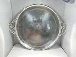 Large Sterling Silver Danish Inspired Round Serving Tray 30 Troy Ounces