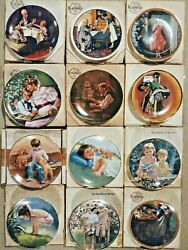 Edwin M Knowls Lot Of 12 Collector Plates- Norman Rockwell