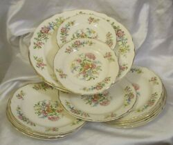 Edwin Knowles T.m U.s.a. China Isabell Pattern From 45-5 And 1980 Lot 13 Pieces