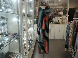 Giorgio Armani Suit Multicolour Tank Top With Scarf And Pants 100 Silk Size 42