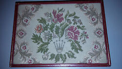 Rolex Antique Box Collectible Flowers Tapestry Jewelry Mod 50and039-60and039s Retro Geneve