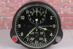 Achs-1 Clock Airforce For Su Mig Soviet Military Ussr Cockpit Air Force /mint