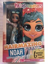 Hairdorables Hairmazing Noah Fashion Doll New With 6 Surprises