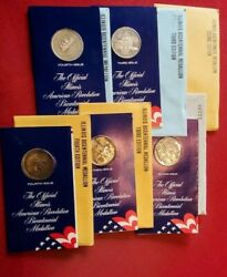 6 American Revolution Bicentennial Medals 234th Edition 3 Are Sterling Br198