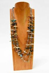 Zuni Three Stranded Fetish Necklace By Anderson Emerson Quam And Family C. 1960