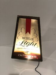 Vintage Michelob Light Beer On Draught Anheuser Busch Standing Lighted Sign