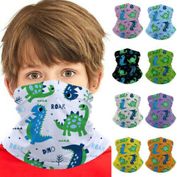 Little Dinosaur Kids Seamless Bandana Headband Face Cover Tube Scarf Balaclava $2.45