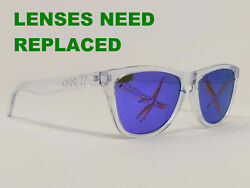 Oakley Women Sunglasses Frogskins 24 305 Crystal Clear Frame Only 55 17 133Aamp;S $54.95