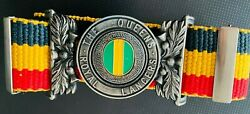 British India The Queens Royal Lancer Miltary Soldier Complete Belt And Buckle