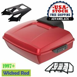 Wicked Red Chopped Tour Pack For 97+ Harley Touring Street Road Electra Glide
