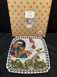 1998 Cbk Chip And Dip Rooster Vintage Finish Earthenware Ceramic Dish New In Box