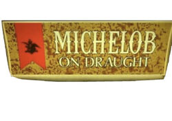 Vintage 1970's Michelob On Draught Lighted Sign In Great Condition Works Great