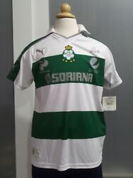 New W. Tags Club Santos Soccer Jersey Youth Sizes Authentic