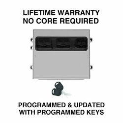 Engine Computer Programmed With Keys 2007 Ford Truck 7l3a-12a650-gmf Mrv5 5.4l