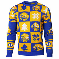 Nba Basketball Ugly Sweater Christmas Jumper Golden State Warriors Patches