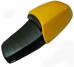 Dual Seat Assembly With Yellow Cowl For Royal Enfield Gt Continental 535