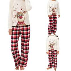 Kids Men Women Sleepwear Family Matching Christmas Pajamas Sets Xmas Pajamas Set