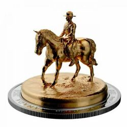 Canada 2020 100 10 Oz Pure Silver Gold-plated Sculpture Coin Rcmp Musical Ride