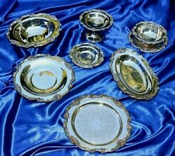 Reed And Barton Silverplate King Francis 22 Serving Pieces - Check Each Piece Out
