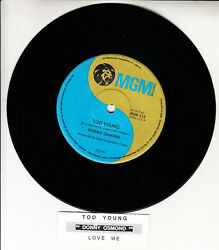 Donny Osmond Too Young 7 45 Rpm Vinyl Record Brand New + Juke Box Title Strip