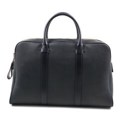 Nwt 3290 Tom Ford Dark Navy Blue Pebbled Leather And039buckleyand039 Large Overnight Bag