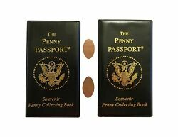 Two-pack Of Penny Passport Souvenir Collecting Book With Free Pressed Pennies