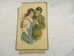 Original 1918 Wwi Print The Girl I Leave Behind Me Soldier Haskell Coffin Ww1