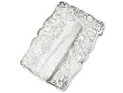 Antique Victorian Sterling Silver Card Case 1850