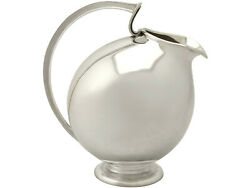 Continental Sterling Silver Water Jug - Design Style - Vintage Circa 1960
